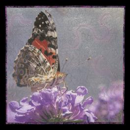 Jennifer Day Butterfly & Flower Thread Printing