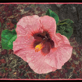 Jennifer Day Hibiscus Flower Thread Printing