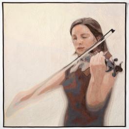 Jennifer Day Violin Thread Printing